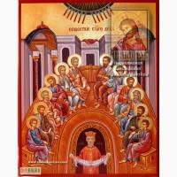 Сошествие Святого Духа рукописная икона 40х50 см