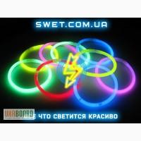 Светящиеся браслеты неоновые (Мультиколор) (100 шт)