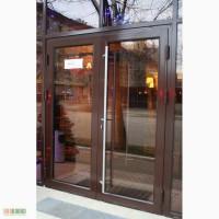 Окна и двери из алюминия. Покраска под дерево. Зимние сады и офисные перегородки.