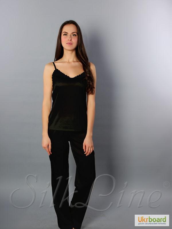 c661800d7d0c ... Шелковая пижама женская SilkLine-21 штаны и майка (цвет: марсала)
