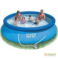 Бассейн большой семейный Intex Интекс 56422 с фильтром, 366-76см