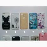 Чехлы силиконовые с принтом на iphone 5