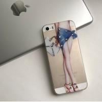 Чехол силиконовый со стразами для iPhone 5/5S