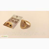 Золотое кольцо перстень печатка BVLGAR