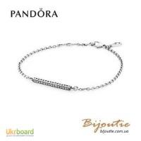 Pandora браслет сердце Пандора 590513CZ