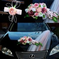 Продам украшение машины арт.4 (пудра) на свадьбу