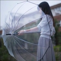 Зонт белый/прозрачный для обозрения подарок для женщины замечательный зонт прозрачный
