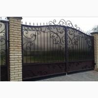 Ворота кованые, с элементами ковки