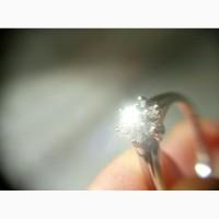 Кольцо с бриллиантами 0. 14 карата