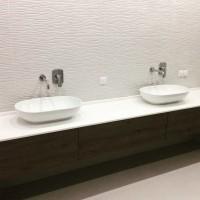 Столешница для ванной из натурального камня под заказ