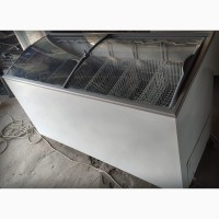 Ларь морозильный 1м 55см с гнутой стеклянной крышкой б/у