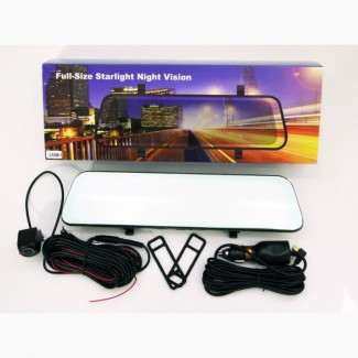 DVR L1028 Full HD Зеркало с видео регистратором с камерой заднего вида.11 Сенсорный экран