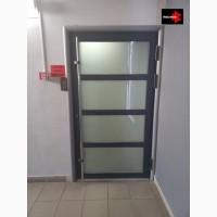 Входные алюминиевые двери от завода в Киеве, входная группа дверей