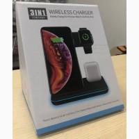 Беспроводное зарядное устройство 3 в 1 iPhone+Apple watch+AirPods Зарядное устройство 3IN1