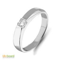 Золотое кольцо с бриллиантом 0,22 карат 17 мм. НОВОЕ (Код: 14904) Есть и в желтом золоте!