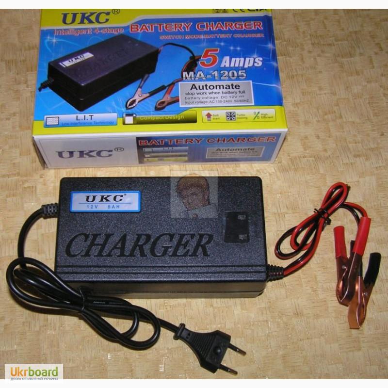 Фото 2. Зарядное устройство автомат 12В 5А (для автомобильных аккумуляторов 20-80 А ч) новое