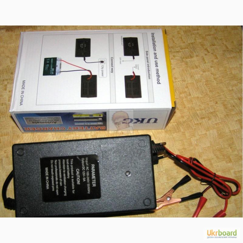 Фото 3. Зарядное устройство автомат 12В 5А (для автомобильных аккумуляторов 20-80 А ч) новое