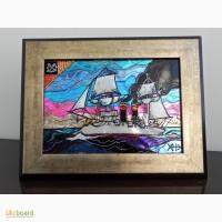 Витражная картина «Союз ветра и пара»