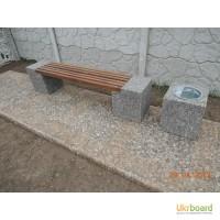 Скамейки парковые, лавочки садовые, скамьи бетонные