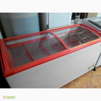 Продам ларь морозильный б/у на 550 л стекло гнутое