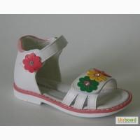 Босоножки для девочек Шалунишка арт.100-256 белый.цветы