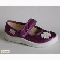 Тапочки в садик для девочек WALDI арт.Алина фиолет.цветок
