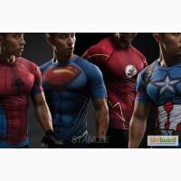 3D Футболка Человек Паук, Капитан Америка, Супермен, Флеш