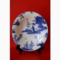 Китайское старинное фарфоровое блюдо