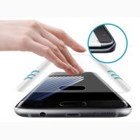 Защитное стекло для Samsung S7 Edge S8 на весь экран противоударное Nano Liquid c УФ-клеем
