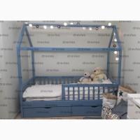 Детские кровати с ящиками домики