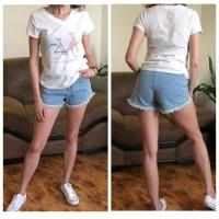 Джинсовые шорты с завышенной талией размера S, M, L