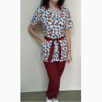 Медицинский женский костюм Тиффани принт