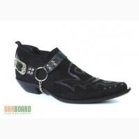 Казаки Etor мужские туфли замшевые на кожаной подошве. Стиль.