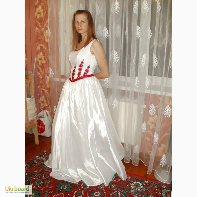 Свадебное платье вышитое бисером