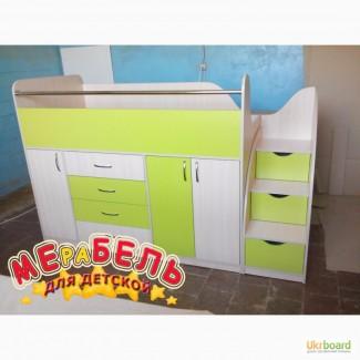 Кровать детская с тумбами и ящиками (дл5) Merabel