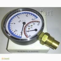 Термоманометр вертикальный 1/2-120 C-10bar Watts арт. 68801000