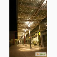 Светодиодный дождь 2 на 1, 5 метра, гирлянда штора, новогодние гирлянды