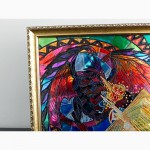 Витражная картина «Атака дракона»