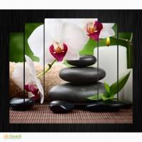 Модульная картина Орхидея и камни