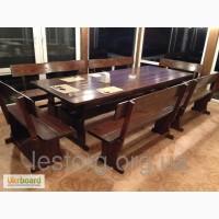 Комплекты садовой мебели из массива древесины
