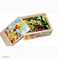 ... кубики 12шт. Развивающая игрушка из дерева в деревянной упаковке