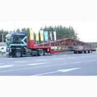 Перевозка ж/д цистерн тралом, негабаритных емкостей, мостовой кран, Киев, Украина