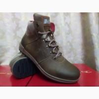 Мужские стильные зимние оливковые ботинки Madoks Распроодажа