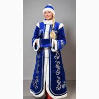 Новогодний костюм Снегурочка взрослая, размеры 50-52