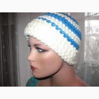 Зимняя шапочка из шерсти+альпака турецкого производства связана крючком