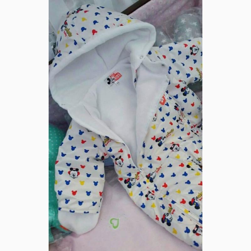 Фото 4. Демисезонные цветные комбинезоны для девочек и мальчиков от 0 до 1 года