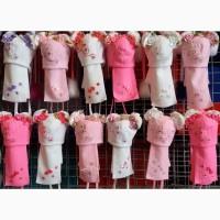 Детские нарядные весенние наборы Малыш: шапочка и шарфик 1-3 года