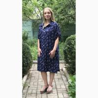 Красивое летнее платье-рубашка