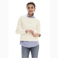 Пуловер с кружевной отделкой белый новый Banana Republic размер М/M состав 100% cotton