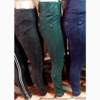 Женские модные утеплённые замшевые лосины брюки леггинсы, размеры 40 - 60 опт и розница